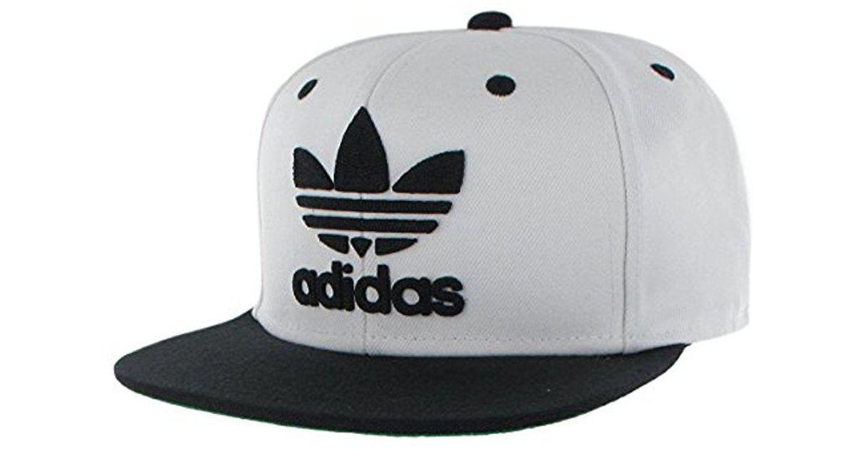 cbbda518c2e00 Lyst - adidas Originals Snapback Flatbrim Cap in Black for Men