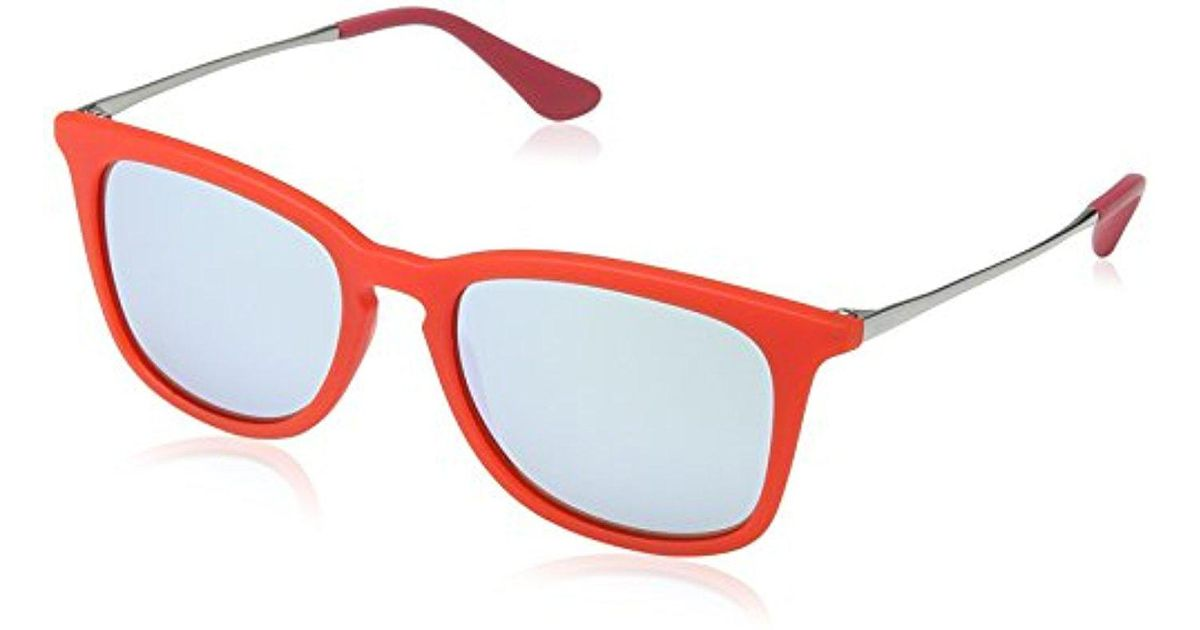 fc48ad6173 Lyst - Ray-Ban Jr. Kids Rj9063s Square Sunglasses 48mm in Red