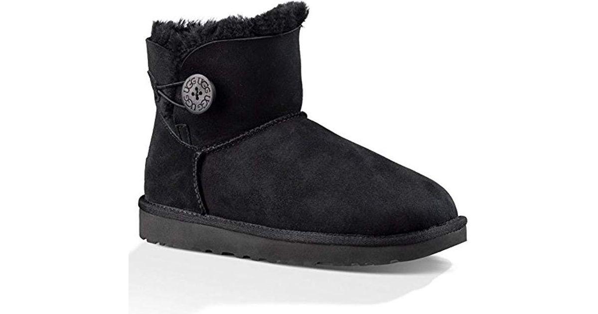 383785a0031 Ugg - Black Mini Bailey Button Ii Winter Boot - Lyst