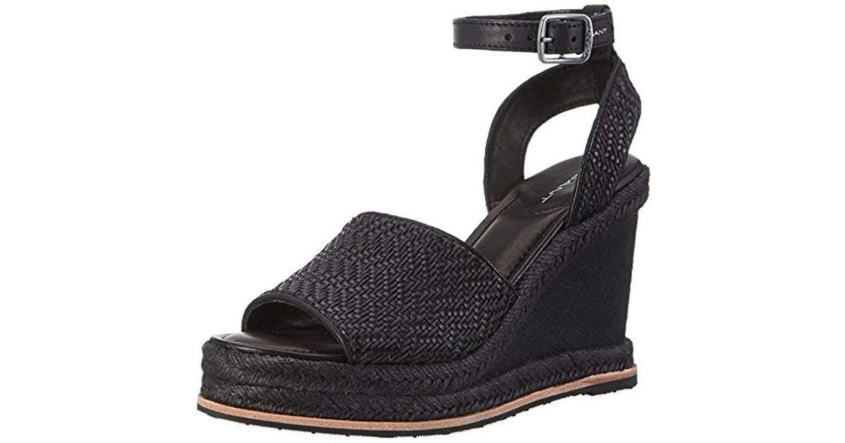 ec86a8cb548de GANT Melissa Ankle Strap Sandals in Black - Lyst