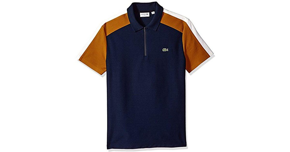 4e2fb557 Lyst - Lacoste Mif Short Sleeve Noppe Pique Polo-regular Fit in Blue for Men  - Save 53%