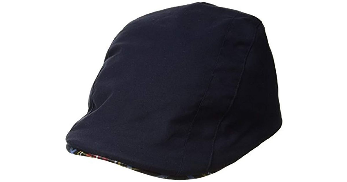 f8c4cad6 Lyst - Kangol Placket Adjustable Ivy Cap With Tartan Lining And Trim in  Blue for Men - Save 7.89473684210526%