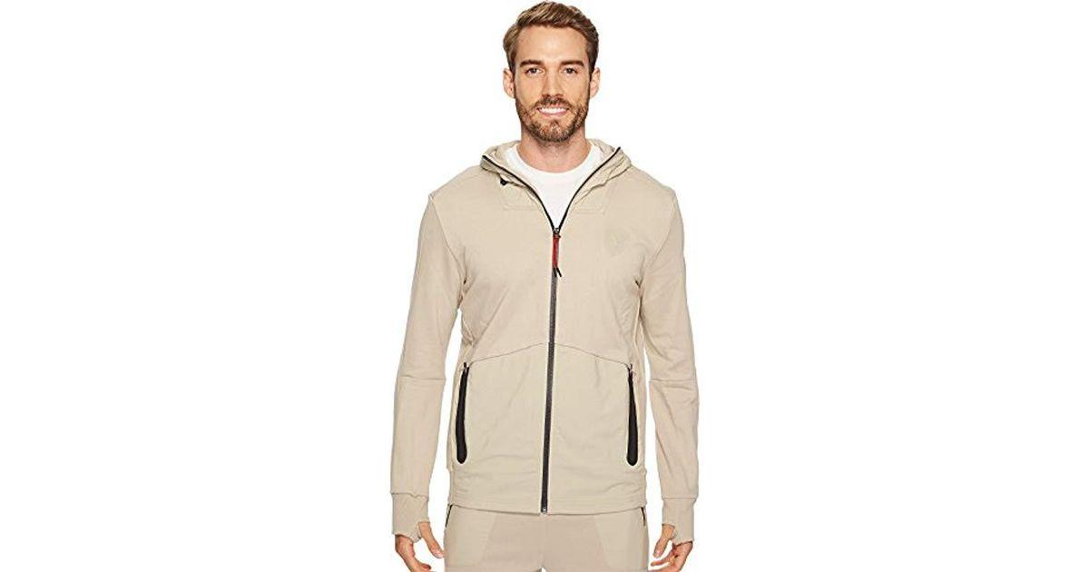 13af6c4da692 Lyst - PUMA Ferrari Hooded Sweat Jacket in Natural for Men