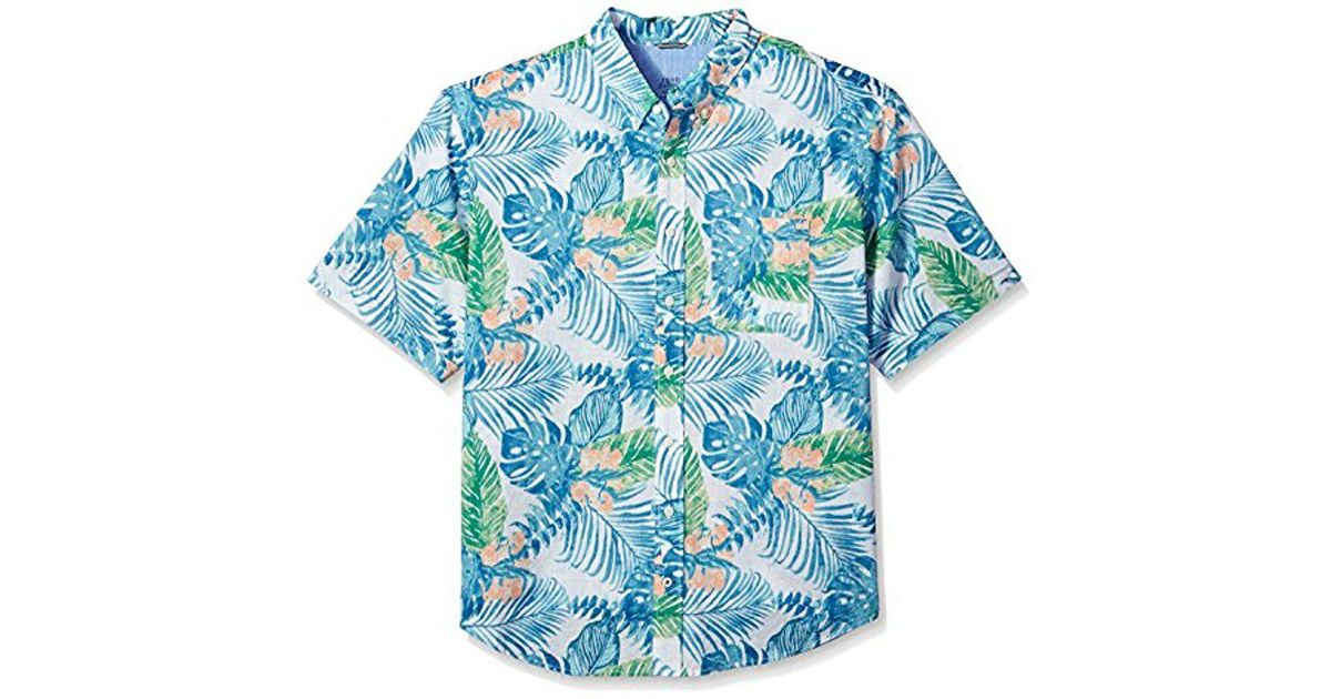 65cadc08 Lyst - Izod Big & Tall Saltwater Chambray Short Sleeve Shirt in Blue for Men  - Save 3%