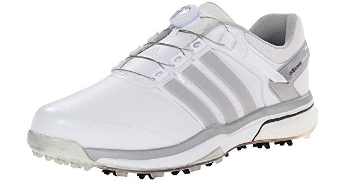 d5f4f88859e5b Adidas - White Adipower Boa Boost Golf Shoe for Men - Lyst