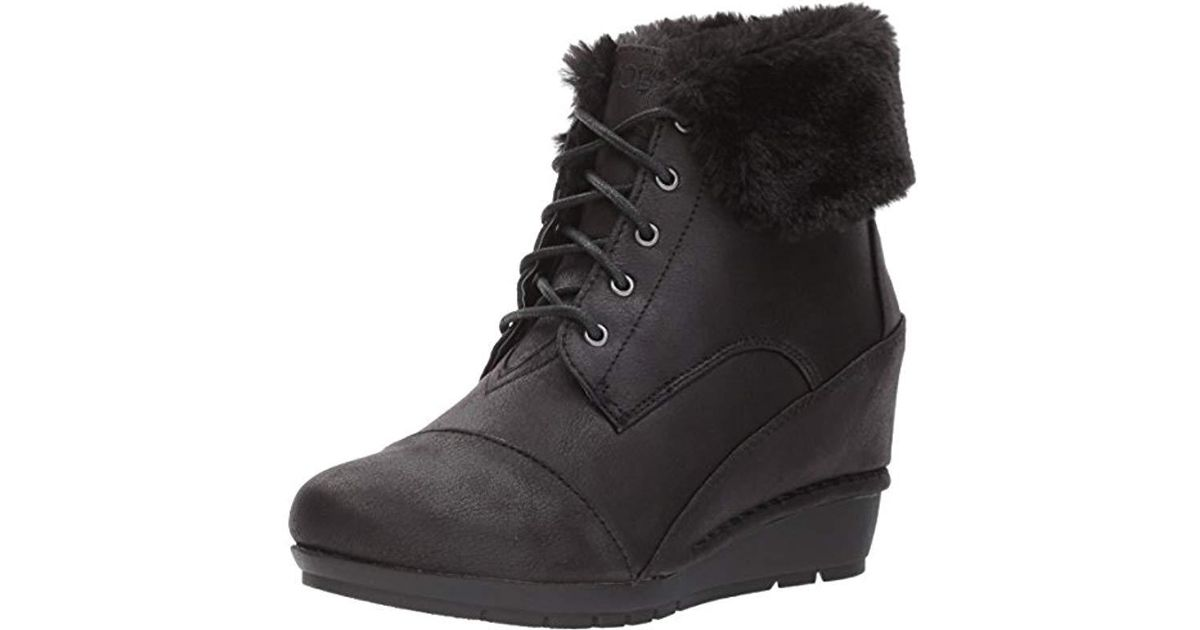 ec543a54df38 Lyst - Skechers Bobs High Peaks-flurry Dust Ankle Boot in Black - Save 8%