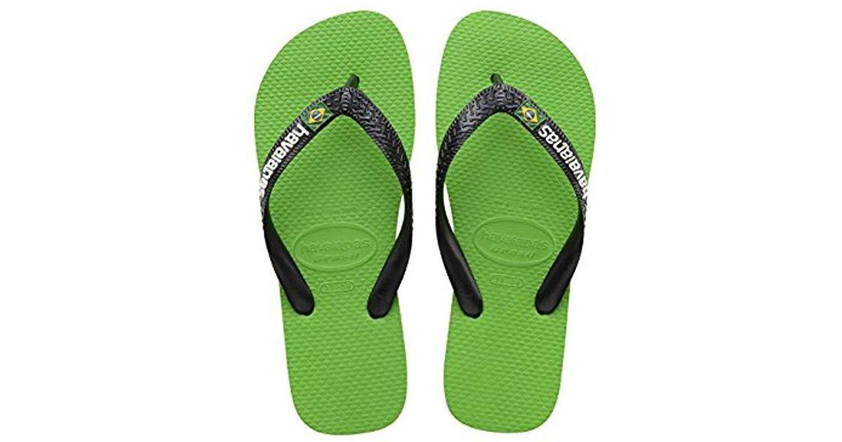 2cb2890e47cb Havaianas Flip Flops   Brasil Logo in Green - Lyst