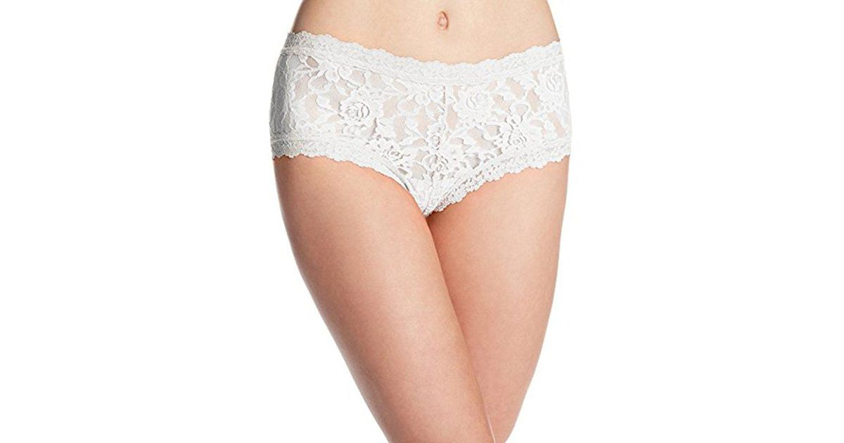 ed40a01aaf8 Lyst - Hanky Panky Signature Lace Boyshort Panty in White