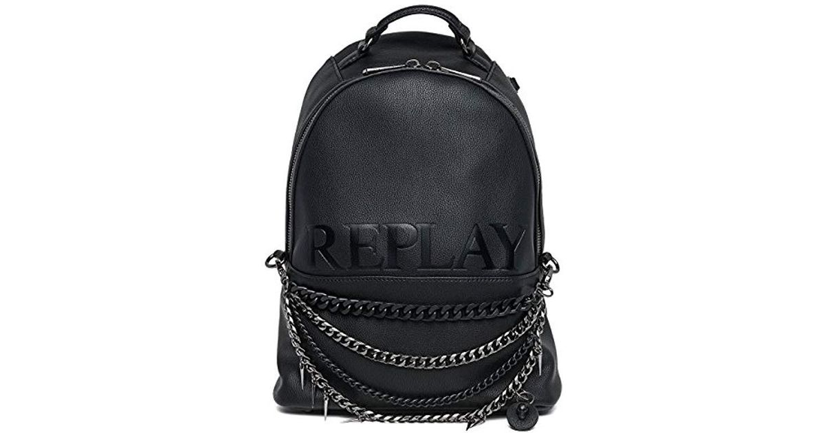 Replay Fw3761 000 A0363 Backpack Handbag In Black Lyst