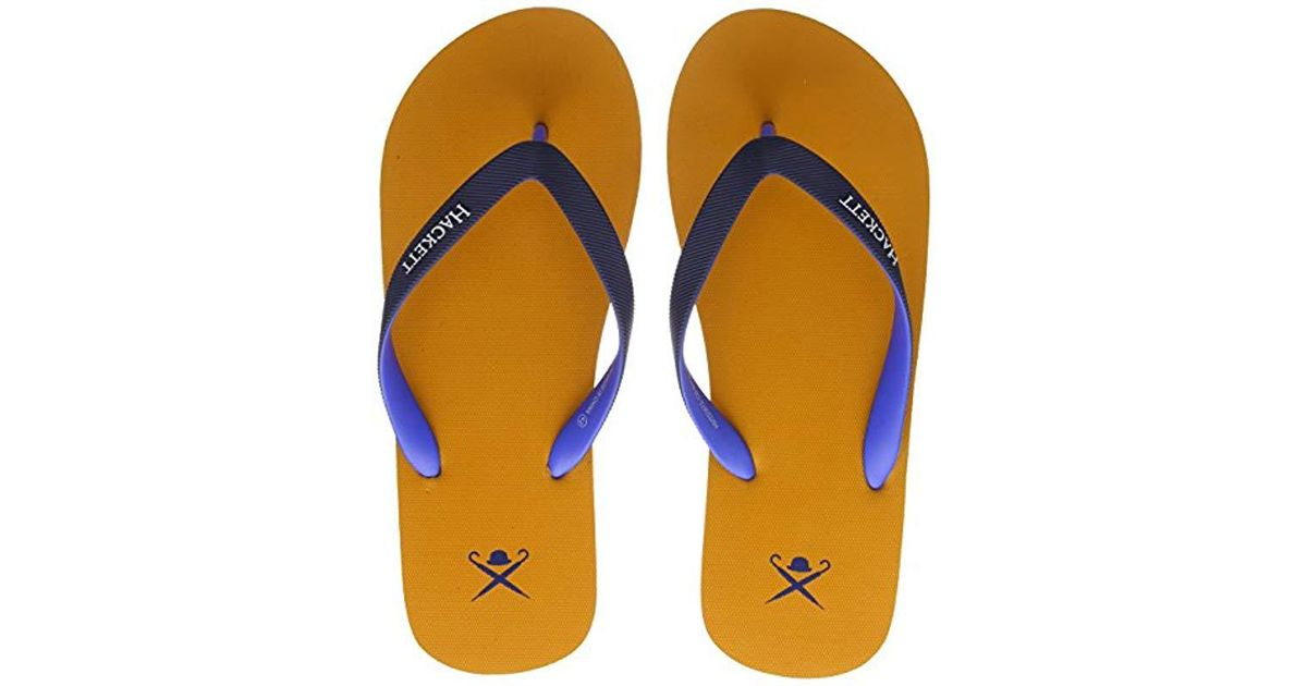 b0e7bae9b Hackett  s Plain Logo Flip Flops in Orange for Men - Lyst