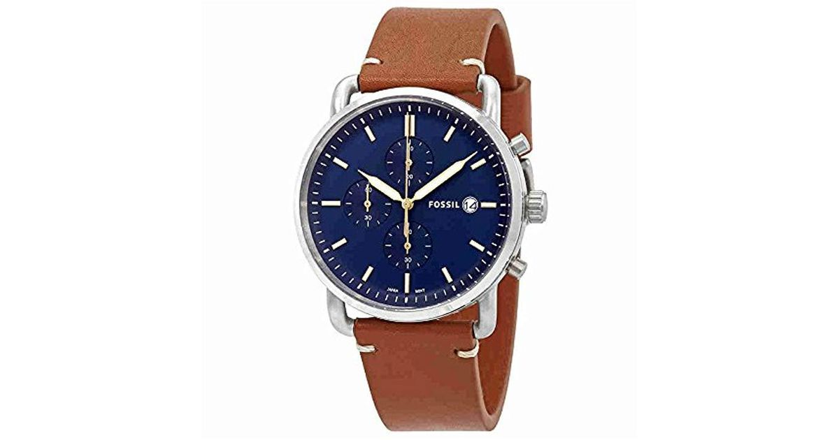83446bf5d Fossil S The Commuter Chrono - Fs5401 in Brown for Men - Lyst