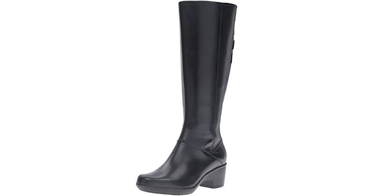 3876a794ea5 Lyst - Clarks Malia Skylar Wide Shaft Riding Boot in Black - Save ...