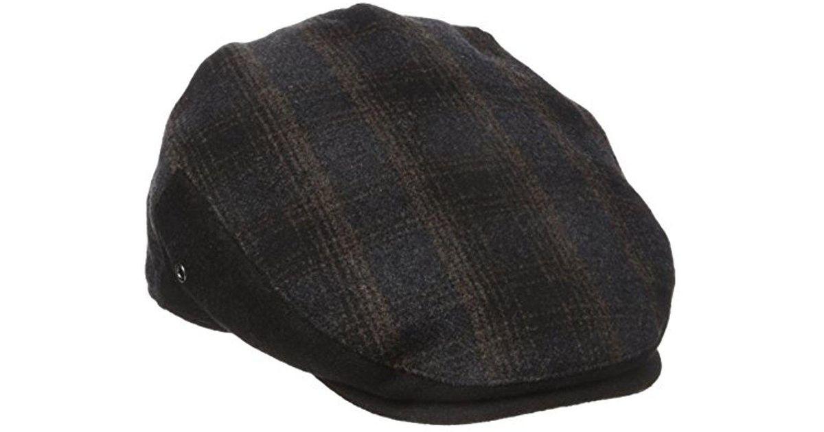 a65f7aef32c Lyst - Dockers Ivy Newsboy Cap in Black for Men