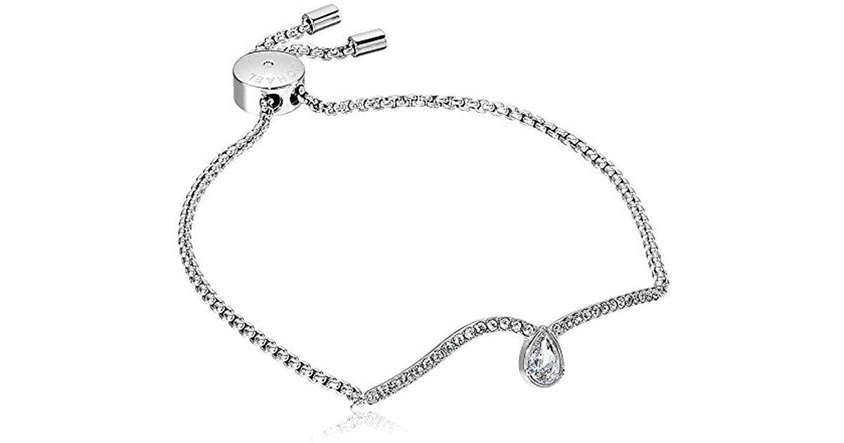 3ffe669bb1 Michael Kors S Brilliance Powerful Romance Pave Slider Bracelet in Metallic  - Lyst