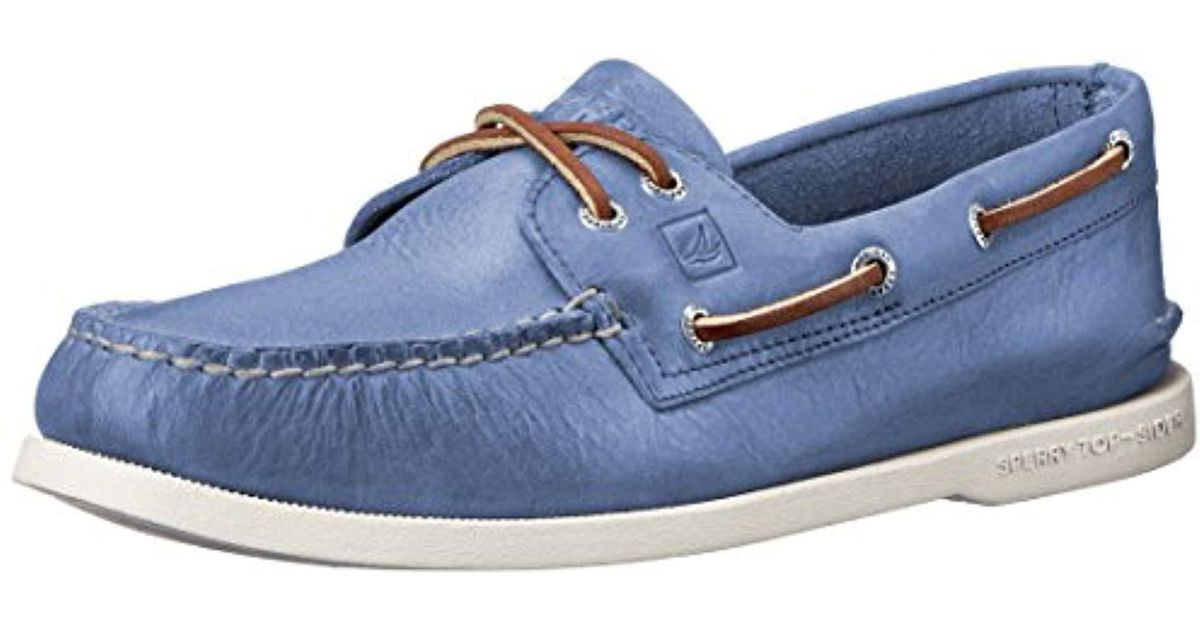 Sperry Top Sider Blue Top Sider Authentic Original 2 Eye Boat Shoes Genuine All Leather And Non Marking Rubber Outsole For Men Lyst