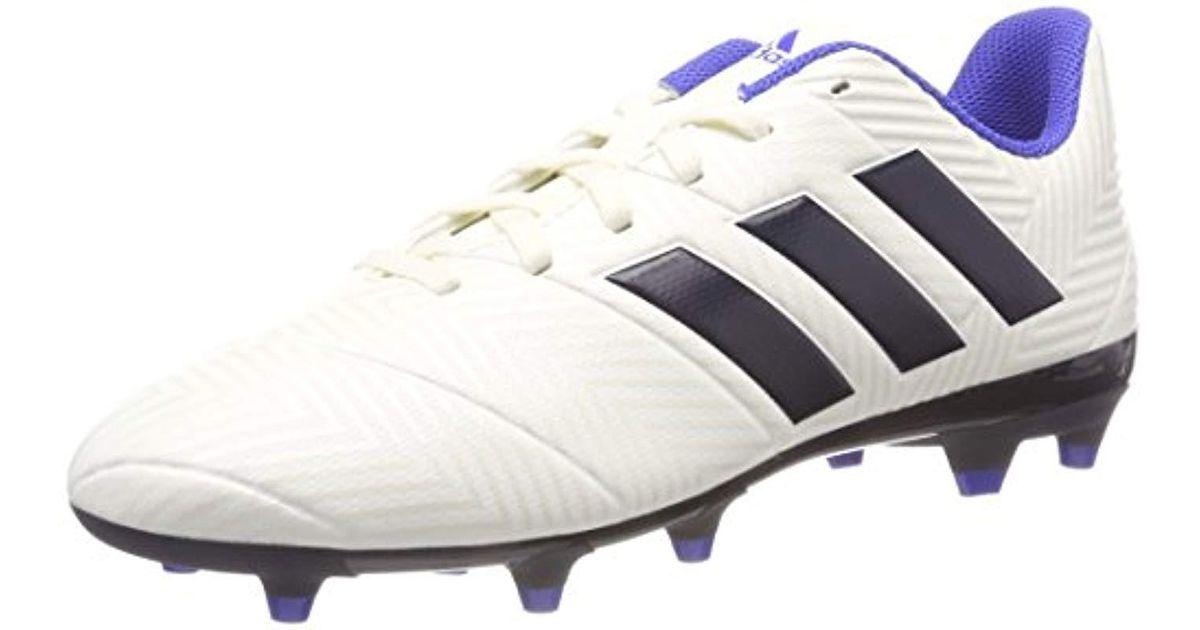 141fff71d69 adidas Nemeziz 18.4 Fg Footbal Shoes in White - Lyst