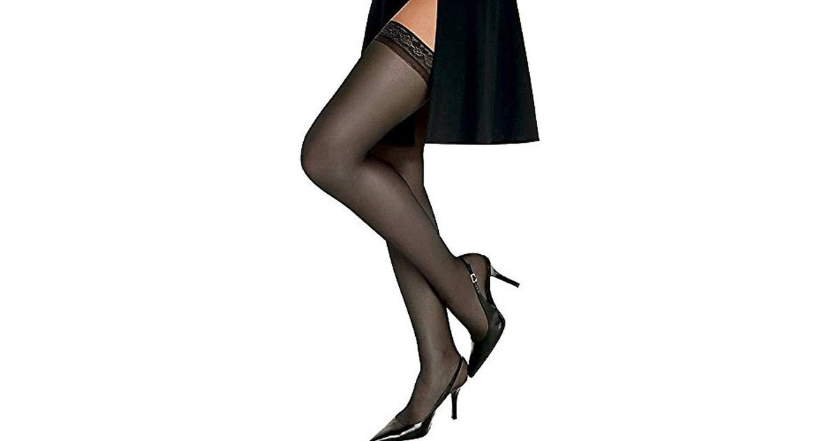 9e472cc56f9 Lyst - Hanes Silk Reflections Thigh-high Stockings in Purple - Save 50%