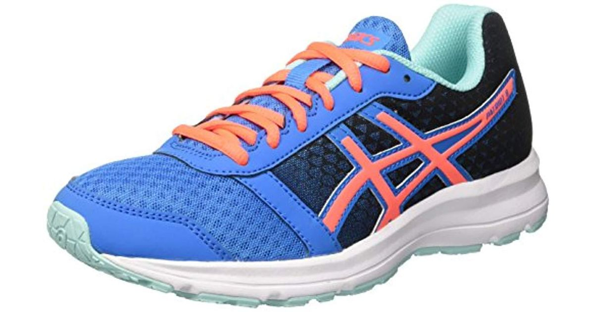742b3864a38d Asics Patriot 8 Running Shoes (t669n) in Blue - Lyst