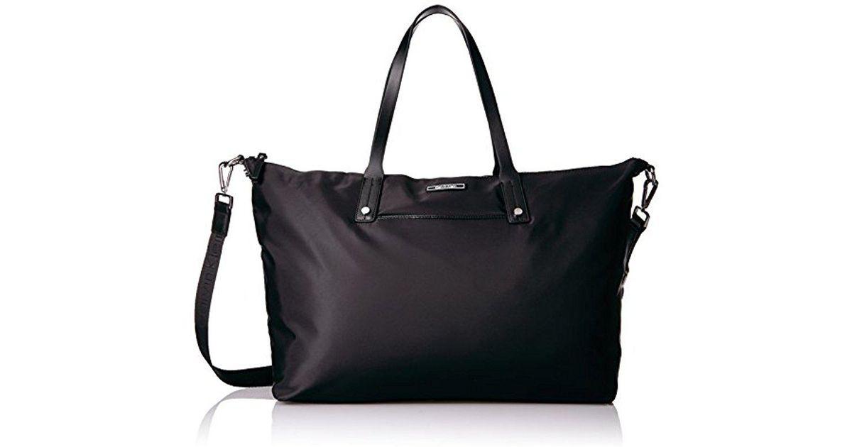 90d024327c0 Calvin Klein East/west Nylon Weekender Tote in Black - Lyst