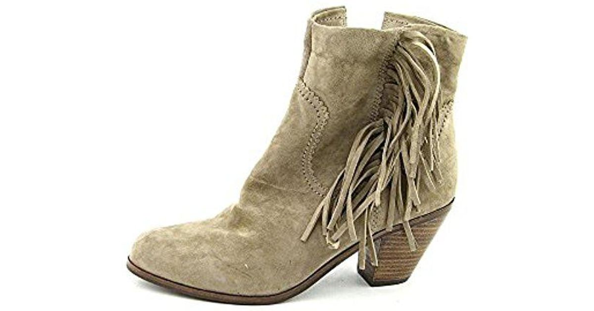 2035f4821 Lyst - Sam Edelman Louie Fringe-trimmed Ankle Boot