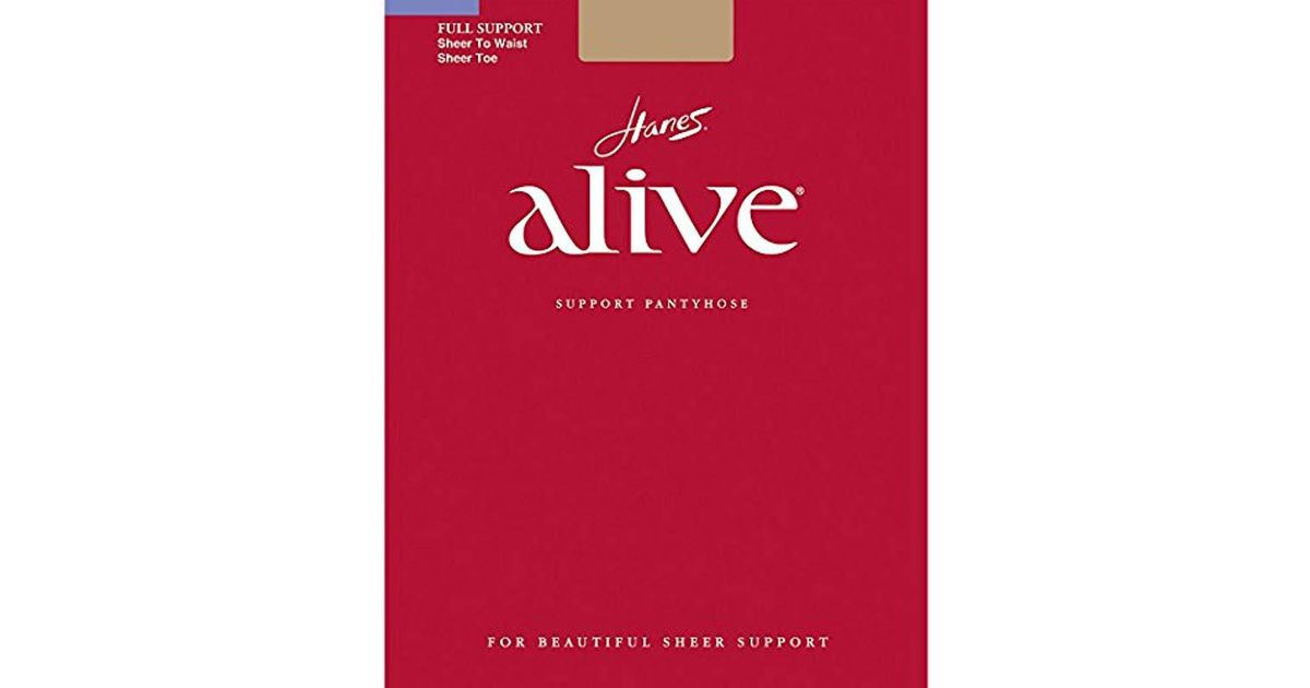 56a83ed880 Lyst - Hanes Silk Reflections Alive Sheer To Waist Support Pantyhose
