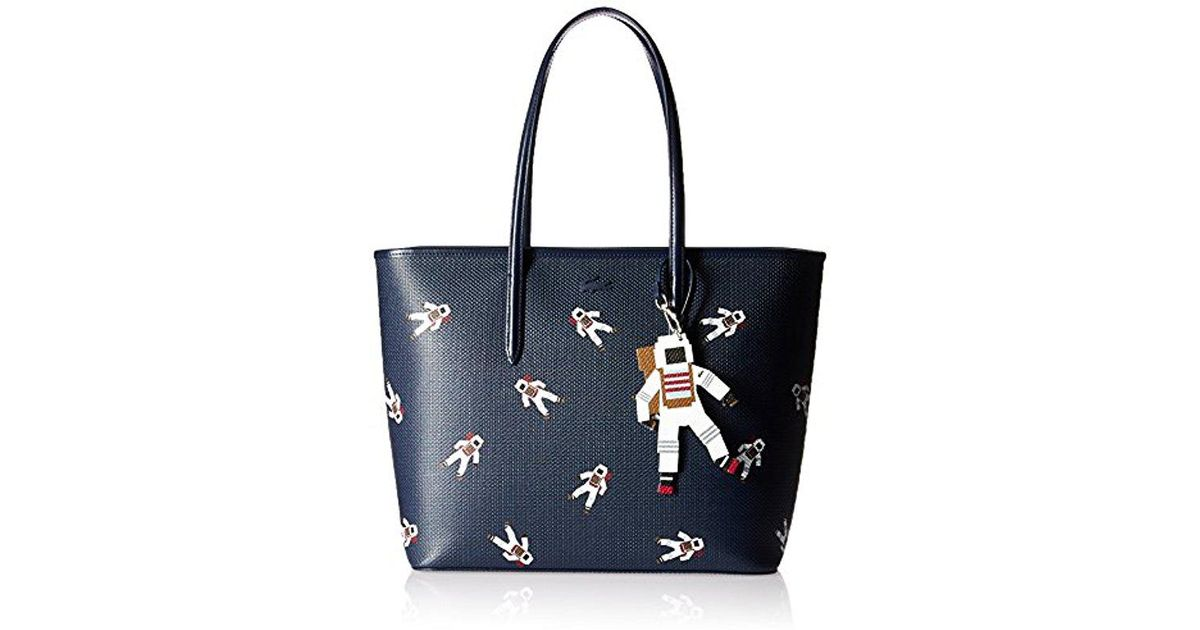 c9eb390c62e Lacoste Chantaco Fantasy Zip Shopping Bag With Charm in Blue - Lyst