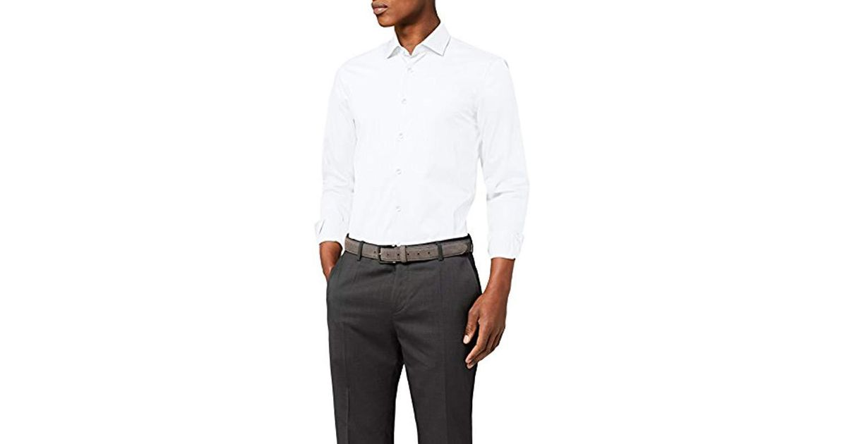 b800aeb5 Tommy Hilfiger Core Stretch Poplin Slim Shirt Business in White for Men -  Save 13% - Lyst