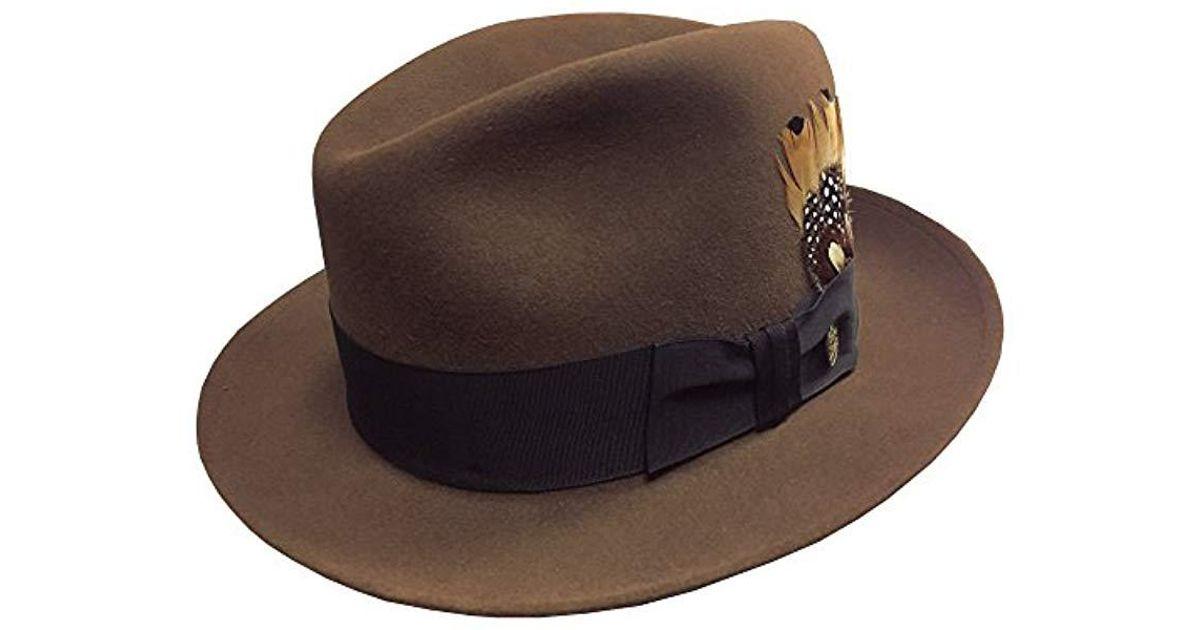 3ea587e64aba4 Lyst - Stetson Saxon Royal Quality Fur Felt Hat in Brown for Men