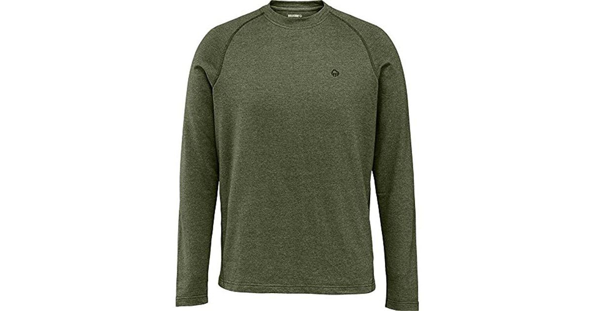 e45a6ca3 Lyst - Wolverine Big Tall Ryder Long Sleeve French Terry Crew Shirt in  Green for Men - Save 10%