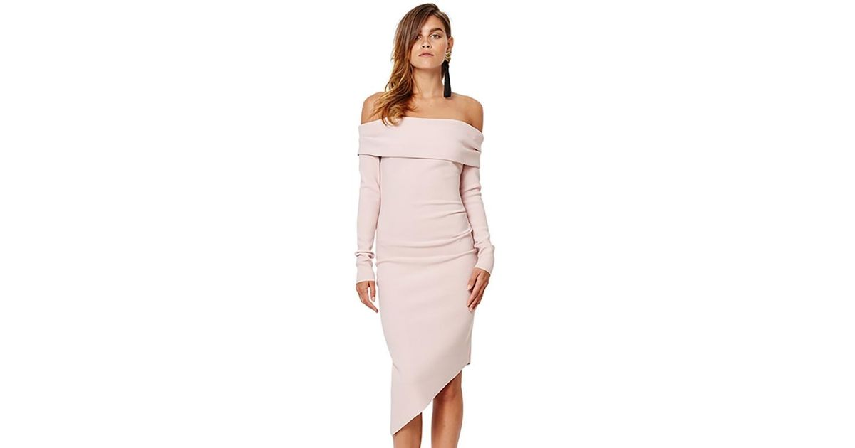 0c4c428bbe Lyst - Bec   Bridge Florence Long Sleeve Midi Dress In Musk in Pink