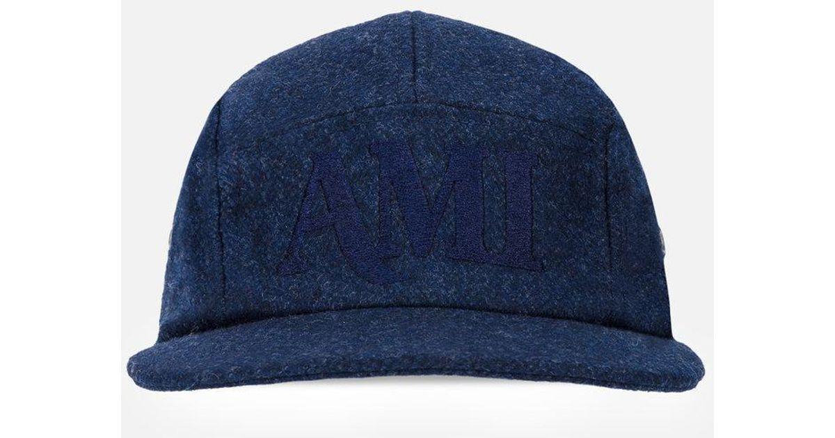 bd82de6d084cb Lyst - Ami 5-panel Cap in Blue for Men