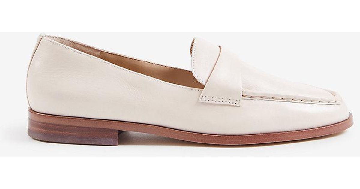 008400d3252 Lyst - Ann Taylor Audriana Leather Loafers in Natural