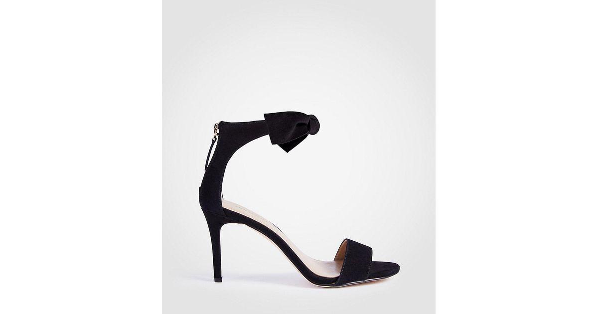 ANN TAYLOR Rosalyn Suede Leaf Heeled Sandals UZtZKbINv