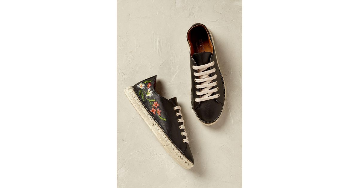 a691c5d4a Anthropologie Isola Floral Espadrille Trainers in Black - Lyst