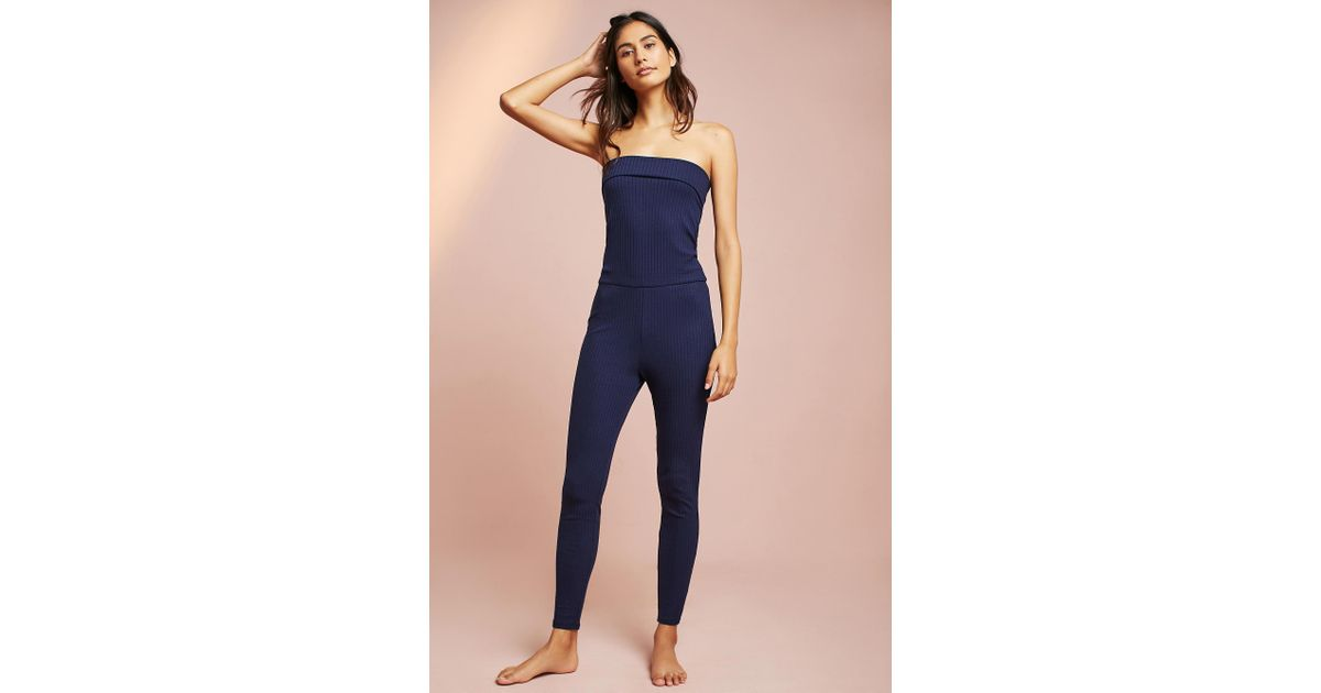 267add6cb35 Anthropologie Eziah Fold-over Convertible Jumpsuit in Blue - Lyst