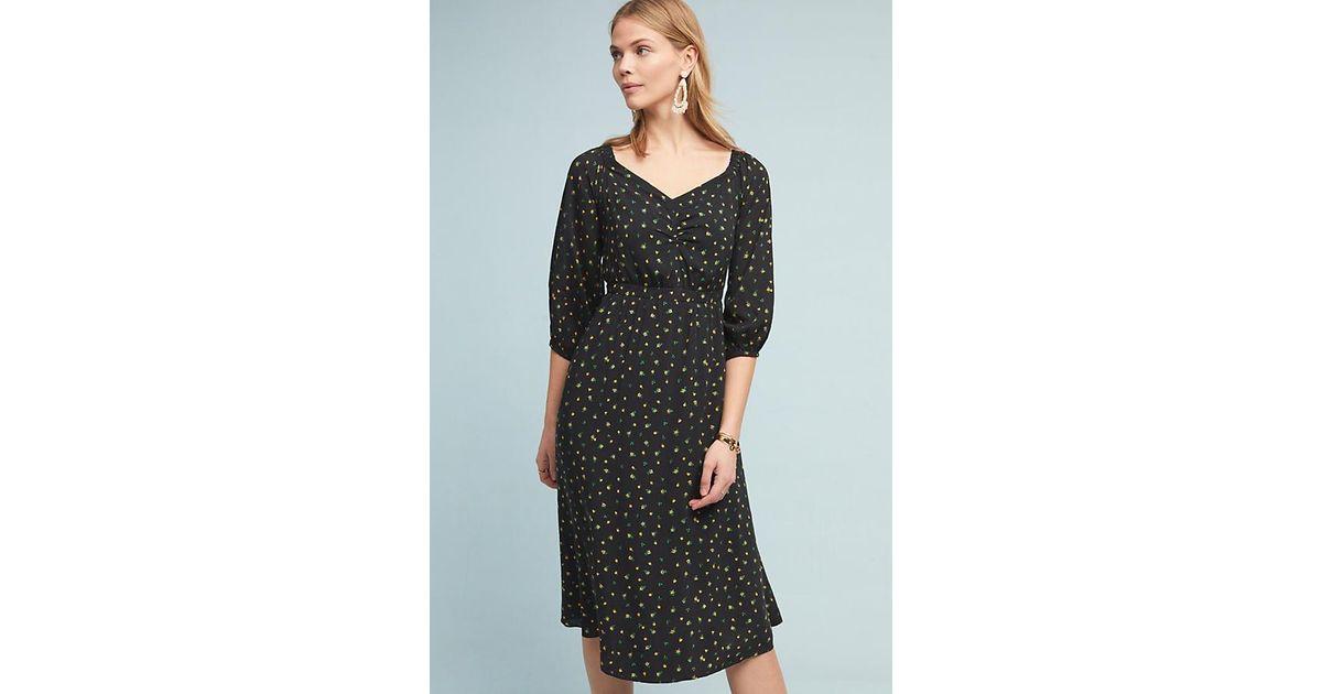 d20d2f671454 Anthropologie Emmy Off-the-shoulder Dress in Black - Lyst