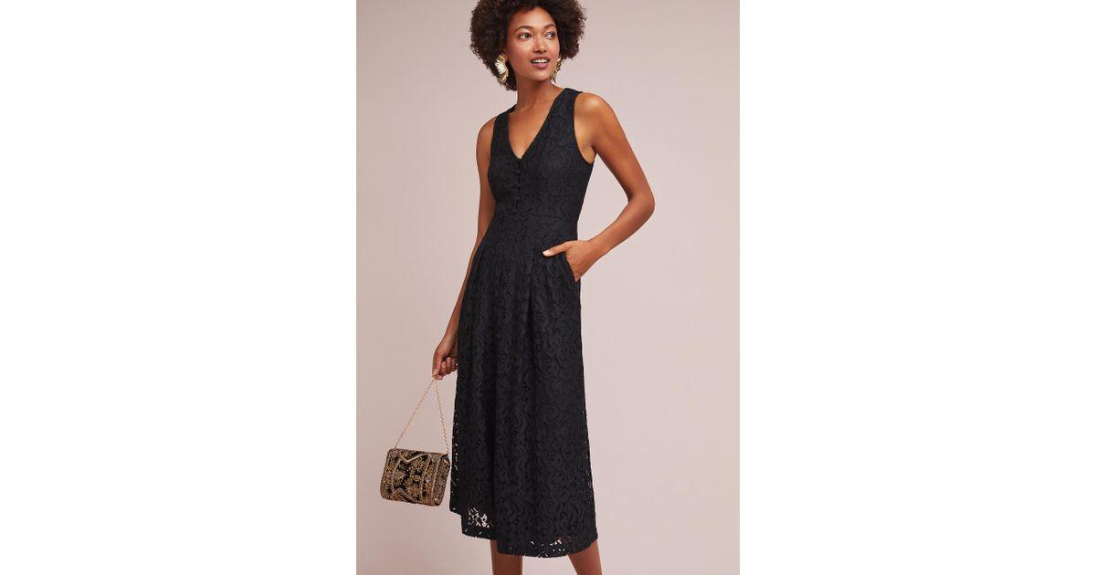 63061e0e394e Moulinette Soeurs Jaeda Lace Wide Leg Jumpsuit in Black - Lyst