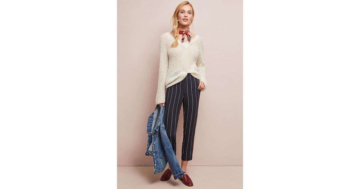 a9f29a2d2 Ett twa Colette Striped Trousers in Blue - Lyst