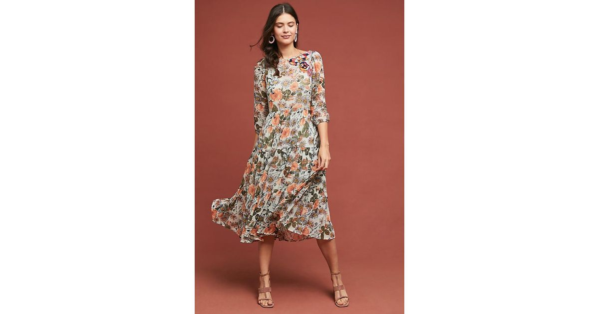 4e9ceaba2c Meadow Rue Espalier Embroidered Tunic Dress - Lyst