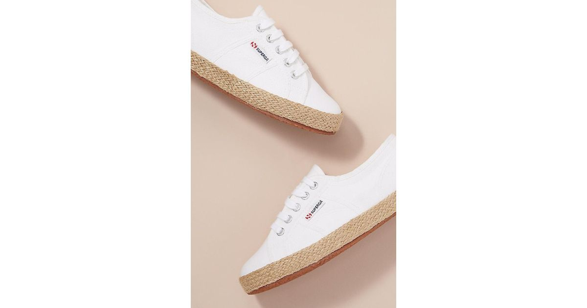 9b30aa5a2 Superga Cotrope Espadrille-sole Trainers in White - Lyst