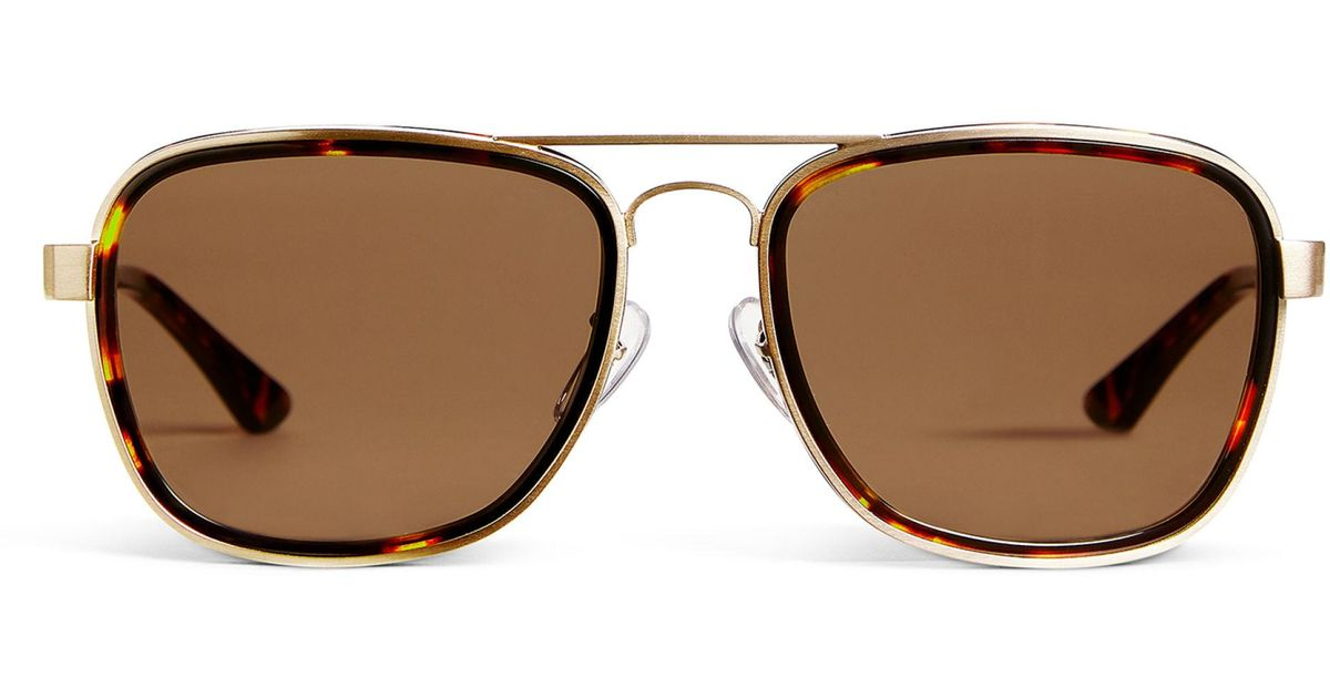 9d5a960de3c3 ARKET Square Aviator Sunglasses in Metallic for Men - Lyst
