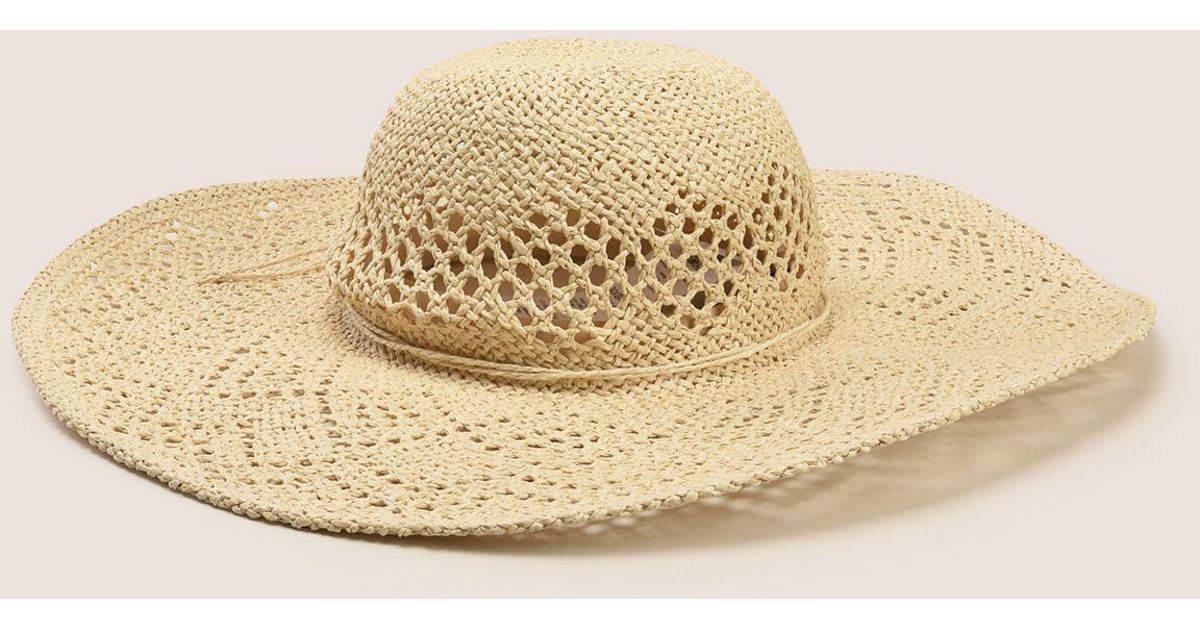 c495d1c6a06e2e Lyst - Armani Exchange Diamond-weave Wide-brim Hat in Natural