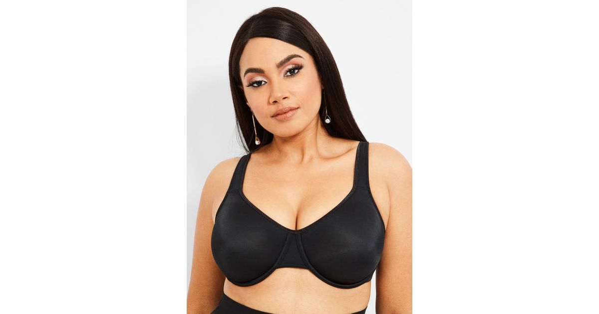 79ce10bd8d5 Ashley Stewart Plus Size Underwire Soft Cup Bra in Black - Lyst