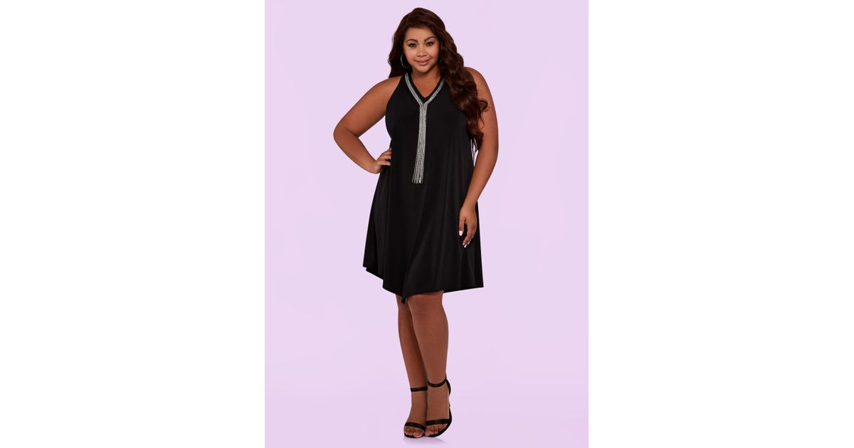 1374b8b59a388 Lyst - Ashley Stewart Plus Size The Riri Dress in Black