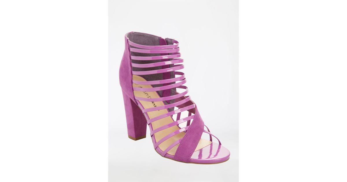 b626dd1dd9fc Lyst - Ashley Stewart Open Toe Strappy Heeled Sandal - Wide Width in Purple