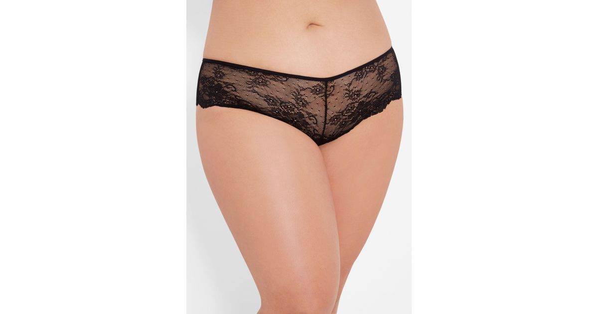 693242b4e720 Ashley Stewart Plus Size Deep V Crotchless Panty in Black - Lyst