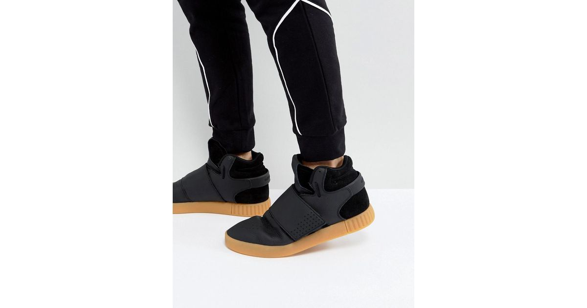 huge discount 55cde 65658 adidas Originals Tubular Invader Strap Trainers In Black By3630 in Black  for Men - Lyst