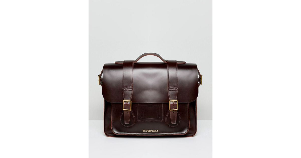 6f9b5dfd29 Lyst - Dr. Martens Leather Satchel 15 Inch in Brown for Men