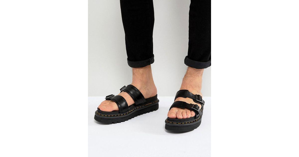 ab73522abf30 Dr. Martens Black Myles Sandals in Black for Men - Save 31% - Lyst