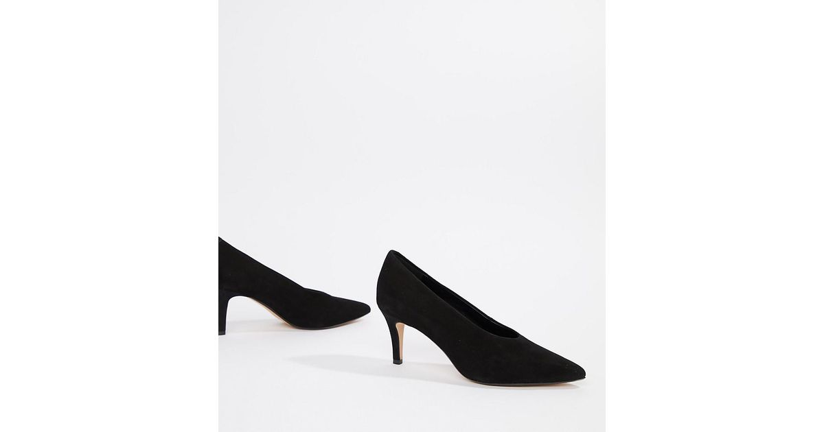 9a3e67a92971 Dune Amorell Wide Fit Suede Pointed Heels in Black - Lyst